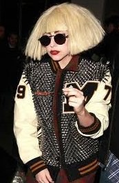 Gaga's studded L. Jacket